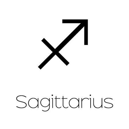 sagitario: Ilustrado del s�mbolo del zodiaco - sagitario