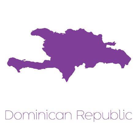 dominican: A Map of the country of Dominican Republic