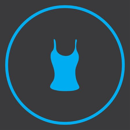 vest top: A Blue Icon Isolated on a Grey Background inside a circle - Vest Top Stock Photo