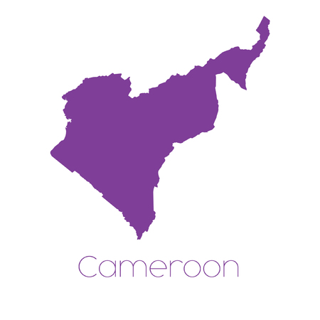 cameroon: A Map of the country of Cameroon