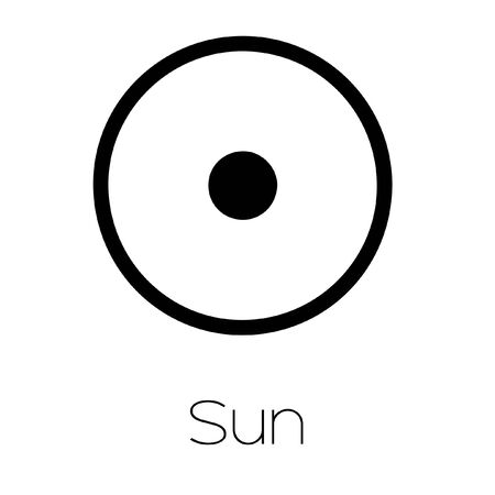 analogy: Illustrated Planet Symbols - Sun