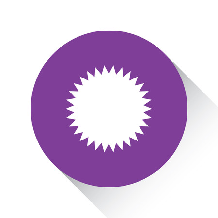 spikey: A Purple Icon Isolated on a White Background - Spikey Circle