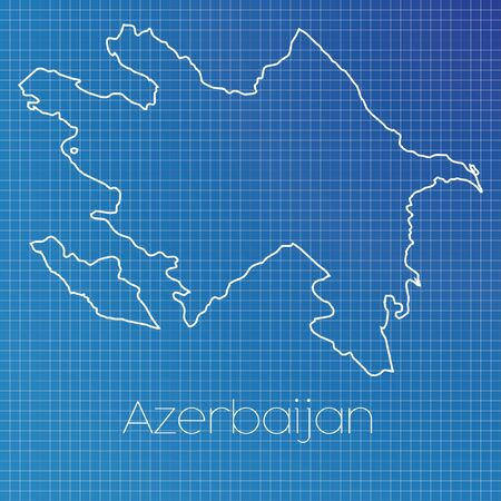 schematic: A Schematic outline of the country of Azerbaijan
