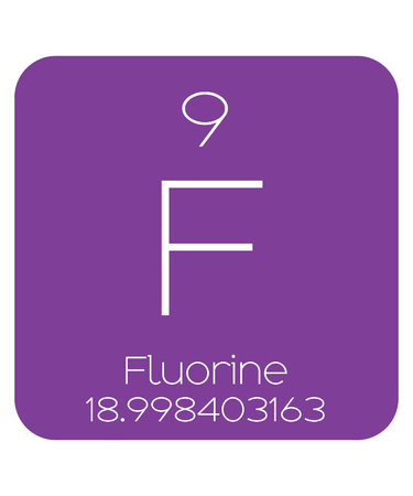 periodic table of the elements: The Periodic Table of the Elements Flourine Stock Photo