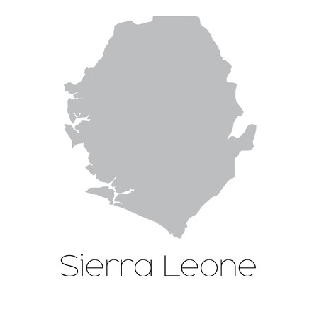sierra: A Map of the country of Sierra Leone Stock Photo