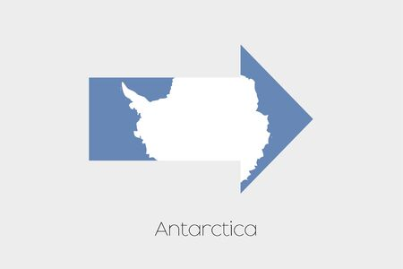 antartica: A Flag Illustration inside an arrow of the country of Antartica Stock Photo