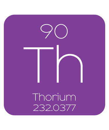 thorium: The Periodic Table of the Elements Thorium Stock Photo