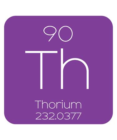 thorium: The Periodic Table of the Elements Thorium Stock Photo