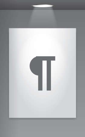 paragraph: A Grey Icon Isolated on Gallery Wall - Paragraph