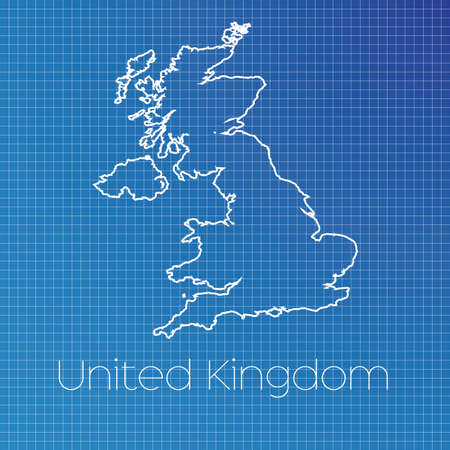 schematic: A Schematic outline of the country of United Kingdom