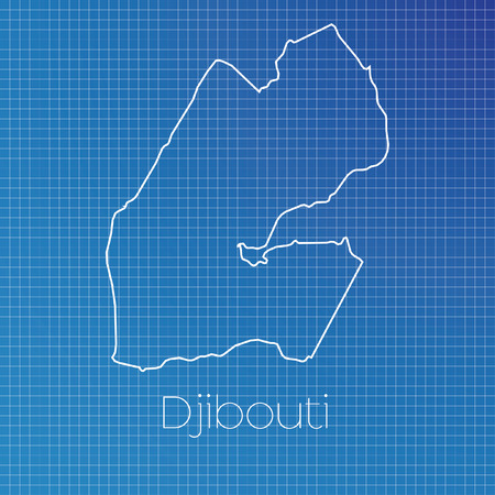 schematic: A Schematic outline of the country of Djibouti Stock Photo