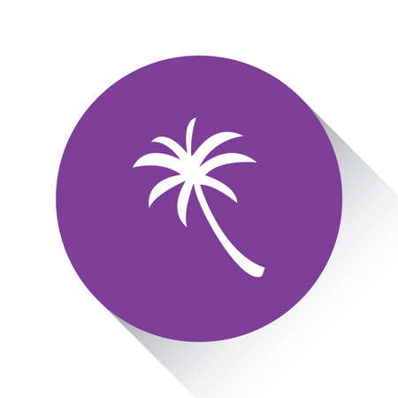 palmtree: A Purple Icon Isolated on a White Background - Palmtree Stock Photo