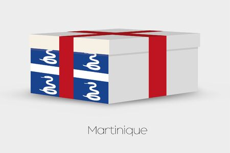 martinique: A Gift Box with the flag of Martinique