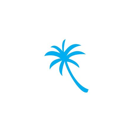palmtree: A Blue Icon Isolated on a White Background - Palmtree