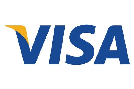 CHESHIRE, UNITED KINGDOM - AUGUST 2, 2015 : VISA Logo 版權商用圖片