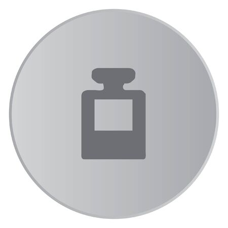 inkpot: A Grey Icon Isolated on a Button with Grey Background - InkPot