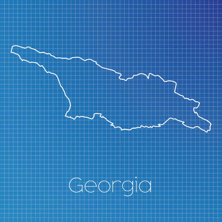 schematic: A Schematic outline of the country of Georgia