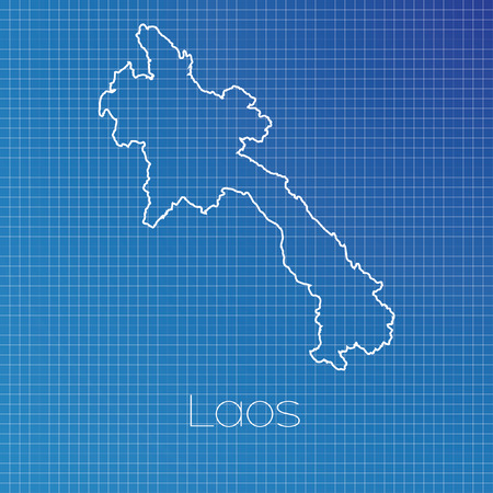 schematic: A Schematic outline of the country of Laos