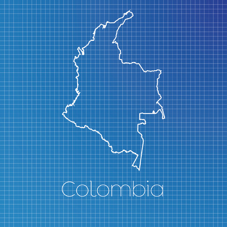 schematic: A Schematic outline of the country of Colombia