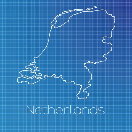 schematic: A Schematic outline of the country of Netherlands