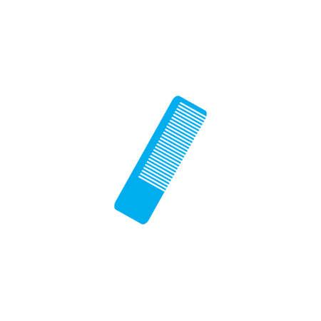 hairbrush: A Blue Icon Isolated on a White Background - Hairbrush