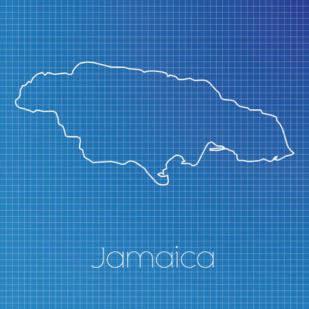schematic diagram: A Schematic outline of the country of Jamaica
