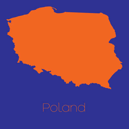 poland: A Map of the country of Poland
