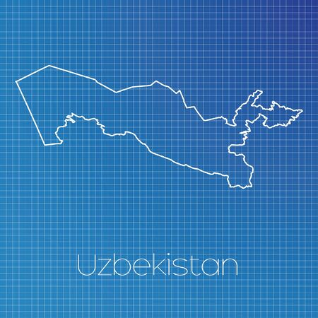 schematic: A Schematic outline of the country of Uzbekistan