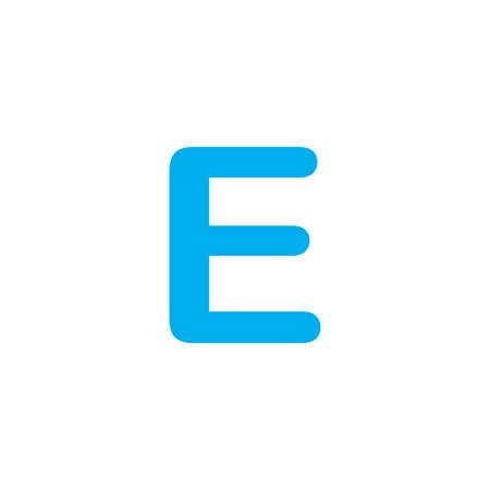 e white: A Blue Icon Isolated on a White Background - E