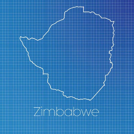 schematic: A Schematic outline of the country of Zimbabwe