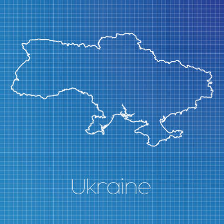 schematic: A Schematic outline of the country of Ukraine