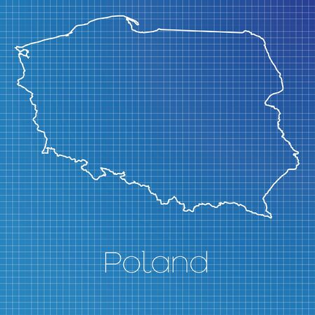 schematic: A Schematic outline of the country of Poland