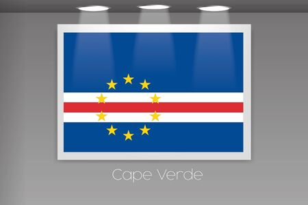 verde: A Flag Isolated on Gallery Wall of Cape Verde