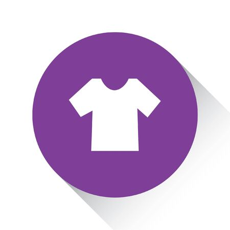 men's: A Purple Icon Isolated on a White Background - Mens TShirt