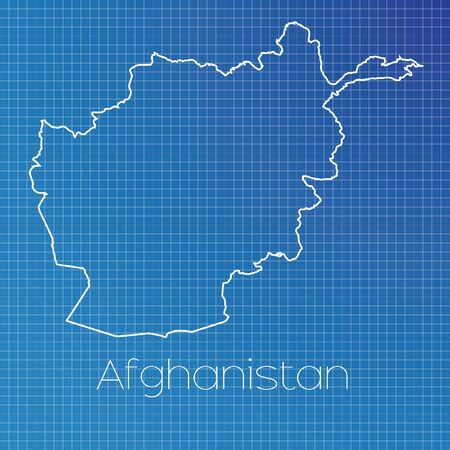 schematic: A Schematic outline of the country of Afghanistan Stock Photo