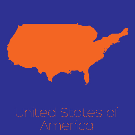 Orange Map United States Stock Photos Royalty Free Orange Map - Orange map us states