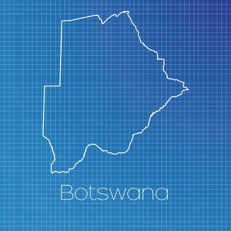 botswana: A Schematic outline of the country of Botswana