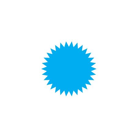spikey: A Blue Icon Isolated on a White Background - Spikey Circle Stock Photo
