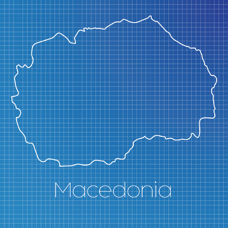 schematic: A Schematic outline of the country of Macedonia Stock Photo