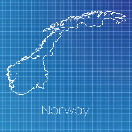 schematic: A Schematic outline of the country of Norway