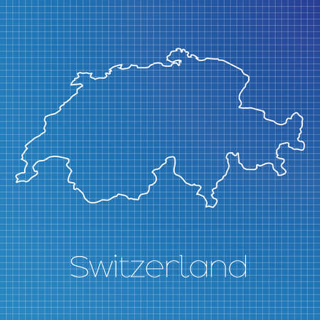 schematic: A Schematic outline of the country of Switzerland
