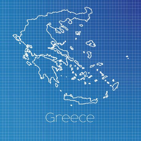 schematic: A Schematic outline of the country of Greece