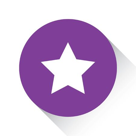 pointed to: A Purple Icon Isolated on a White Background - 5 Pointed Star