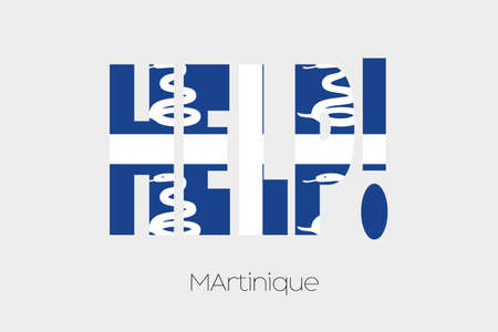 martinique: A Flag Illustration inside the word Help of the country of Martinique Stock Photo