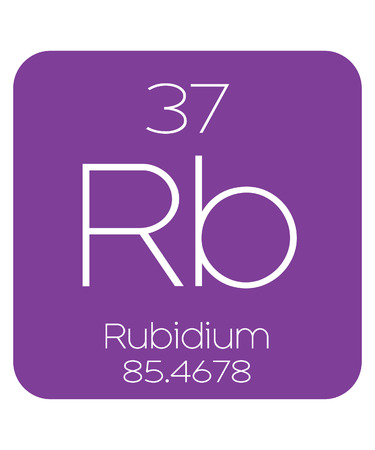 The Periodic Table Of The Elements Rubidium Stock Photo Picture And