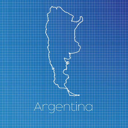 schematic: A Schematic outline of the country of Argentina