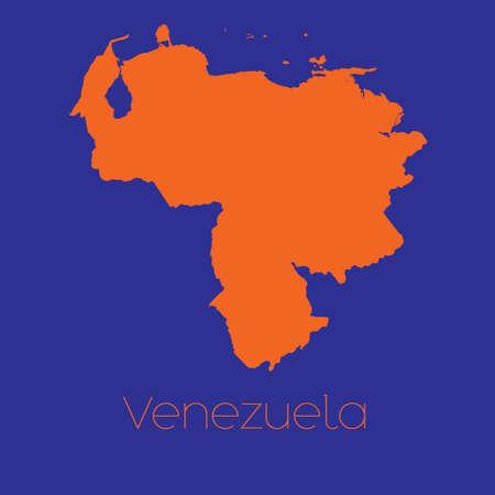 mapa de venezuela: Un mapa del pa�s de Venezuela