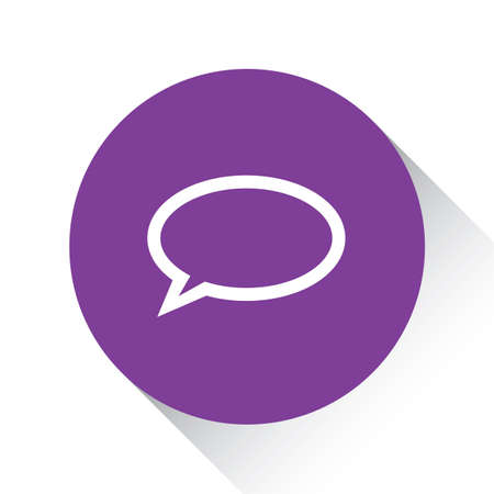 speech icon: A Purple Icon Isolated on a White Background - Speech Bubble