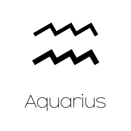 abstract aquarius: Illustrated Zodiac Symbol - Aquarius