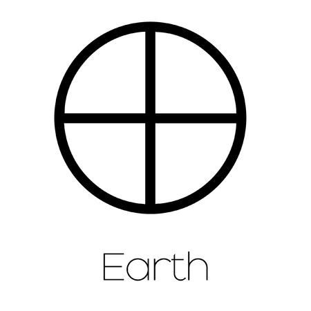 analogy: Illustrated Planet Symbols - Earth Stock Photo